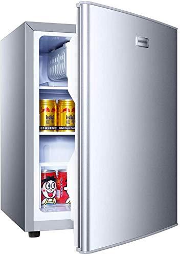 Einzigartige Tür Kühlschrank, Mini-Kühlschrank, 50L, Energiesparhaus, und gefriert, Schallpegels von 37 dB, 5 Temperaturen, Silber Refrigerators