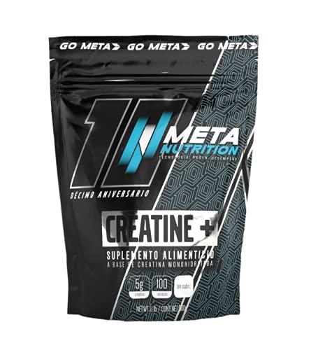 Meta Nutrition Creatina Monohidratada Creatine - 500 Gr, 100 Porciones, con Scoop incluido