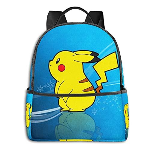 Pokémon Sac à dos pour étudiant + sac à déjeuner isotherme + pochette – Pour l'école, les voyages, le travail ou pour ordinateur portable