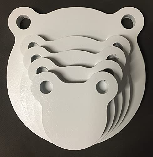 AR500 Steel Targets - Gongs - Silhouettes and More for Pistols and Rifles - 3/8 1/2 (1/2' AR500, Combo Gong Set 3/4/5/6/8)