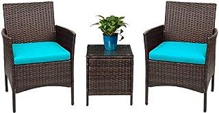 Devoko Patio Porch Furniture Sets 3 Pieces PE Rattan...