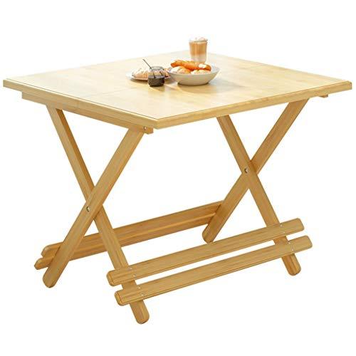 Table pliante, table de salle à manger en bambou carrée maison, plateau de cartes de camping pique-nique en plein air, bureau d'ordinateur portable pliable (Size : 70cm)