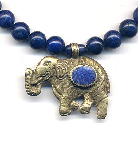 Elephant Lapis 2021 Lasuli Necklace Sale SALE% OFF Nepal Ganesha Statement Pe Tibet