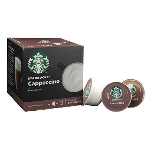 Starbucks Nescafé Dolce Gusto Cappuccino, Café Café, Cremiendo, Cápsula, Café Tostado, 12 Cápsulas