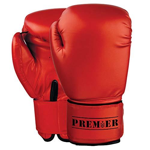 Revgear Premier Boxing Gloves, Red, Regular