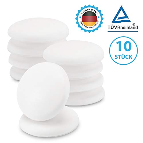 ShapeTree Premium Türpuffer Wand 40mm | Türstopper Selbstklebend | Extra Starker Kleber | Wandschutz Weiß | Schadstofffrei TÜV-geprüft