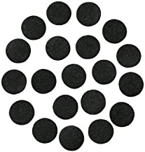 "Black Adhesive Felt Circles: Variety of Sizes: ½"", ¾"", 1"