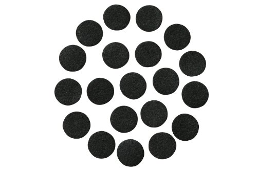 "Black Adhesive Felt Circles: Variety of Sizes: ½"", ¾"", 1"" or 1.5"" Wide; Package Sizes for Wholesale Pricing, Die Cut Stickers Ready to use for DIY Projects & Crafts (48 Count 1.5"", Black)"
