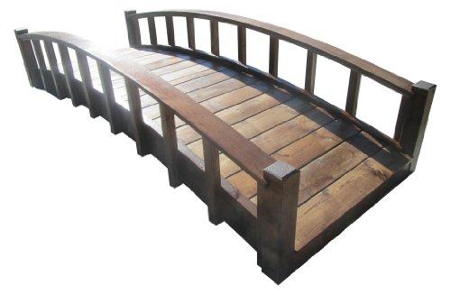 SamsGazebos Moon Bridges Japanese Style Arched Wood Garden Bridges, 8-Feet