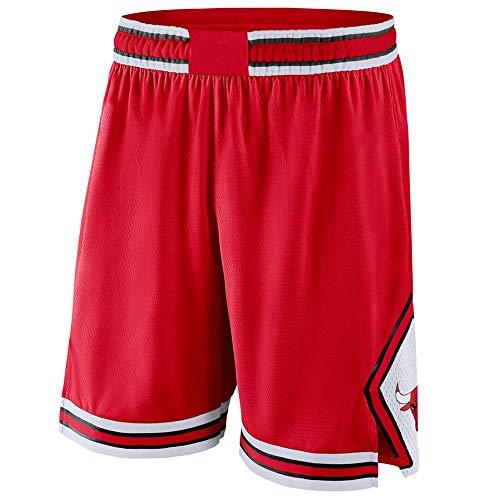 GFENG Unisex Pantaloncini Shorts da Basket Chicago Bulls Urbani Versione Ricamo Concorrenza Basket Pantaloncini di Formazione