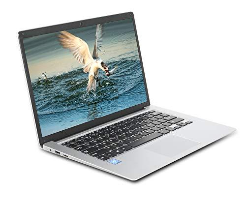 Notebook 14,1 Pollici GOODTEL B1 PC Portatile 6 GB RAM + 64 GB ROM, con Schermo Full HD 1080p, Windows 10, con Slot per MicroSD | WiFi | Bluetooth | USB | OTG | HDMI | Mouse | Borsa del PC, Argento