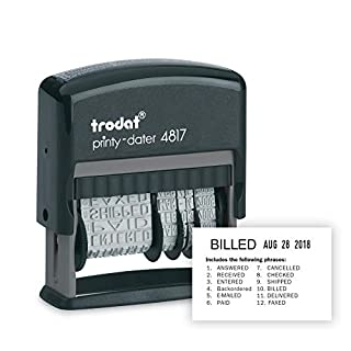 U.S. Stamp and Sign U. S. and Trodat Economy 12-Message, Dater, Self-Inking, 3/8 X 2-Inch, Black (E4817) (B00134KFNE) | Amazon price tracker / tracking, Amazon price history charts, Amazon price watches, Amazon price drop alerts