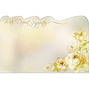 """50″with Deepest Sympathy"""" Flowers Florist Blank Enclosure wLAET Cards Small Tags Crafts"""