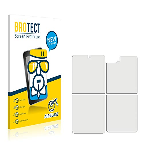 BROTECT Protector Pantalla Cristal Compatible con Samsung Galaxy Z Flip (Frontal + Trasera) Protector Pantalla Vidrio Dureza 9H AirGlass