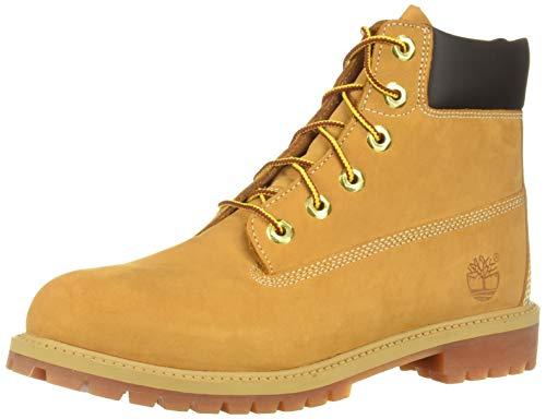 Timberland Unisex-Kinder 6 in Premium Waterproof Klassische Stiefel, Gelb (Wheat Nubuck), 37 EU