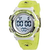 YFWOOD YF-005 Kids Digital Waterproof Sports Watch (Yellow)