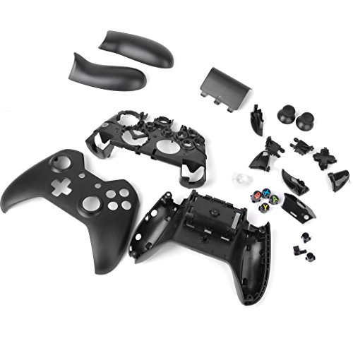 Replacement Full Housing Shell Case Parts Set for Xbox One Wireless Controller Black [Importación Inglesa]