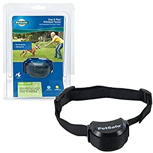 PetSafe Stay + Play Wireless Fence Receiver Collar Only for Dogs and Cats, Waterproof and Rechargeable, Tone and Static Correction – From The Parent Company of INVISIBLE FENCE Brand