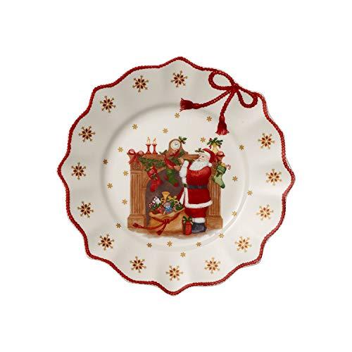 Villeroy & Boch Annual Christmas Edition Jahresteller 2019, Teller für die Festtafel, Premium Porzellan, rot, bunt, 24 x 24 cm