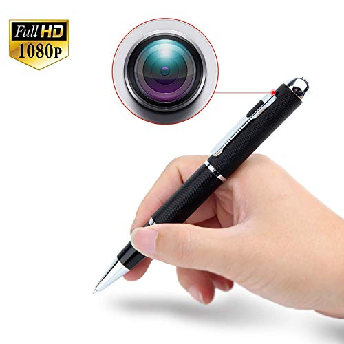 Bolígrafo con cámara Oculta espía HD 1080, Grabación de vídeo Oculto y Sonido Pluma Profesional. Soporte Memoria 32gb, Negro