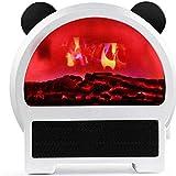 Panda 3D Llama Chimeneas Eléctricas Escritorio Silencioso Mini Chimenea Calentador Eléctrico Rápido Adecuado para Oficina En Casa Dormitorio Blanco Decorar