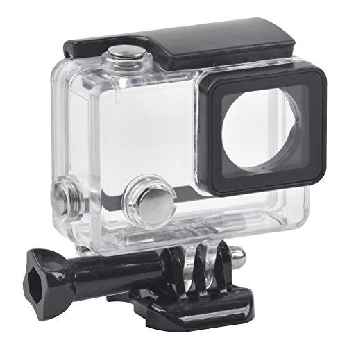 Wasserdichte Schutzhülle, Tauchen Case Schutzhülle für GoPro Hero 4, Hero 3+, Hero 3, mit Befestigungsschraube und Bodenschutz - für Verwendung der wasserdichte Gehäuse bis 45 m unter Wasser