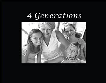 Infusion Gifts 3048SB Engraved Photo Frame 4 Generations Black