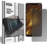 dipos I Blickschutzfolie matt kompatibel mit Xiaomi Pocophone F1 Sichtschutz-Folie Bildschirm-Schutzfolie Privacy-Filter