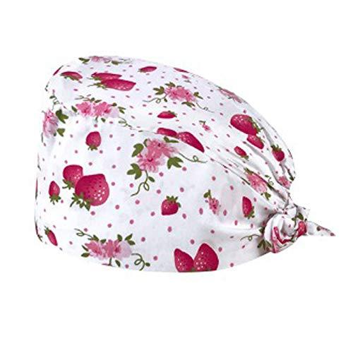 Unisex Peeling Kappe Bouffant Hut mit Schweißband, Scrub Kappe mit Knöpfen, Schön Haarpflege Hüte OP Haube Kochmütze Chirurgische Krankenschwester Cap Arbeitskappen für Küche Frauen Männer Ärzte