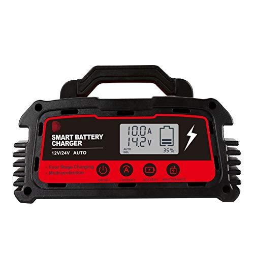 Z&LEI Cargador de batería de Alta Potencia, DC 100A 200a 12V24V Cargador de automóviles Completamente Inteligente Reparación Universal de Plomo-ácido,A