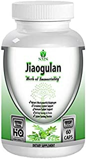 Organic Jiaogulan Gynostemma 4:1 Extract Capsules, High Potency Antioxidant and Adaptogen Pills, Caffeine-Free Immortality...