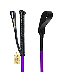 Tough 1 English Riding Crop with Wrist Loop and Rubber Handle 24-Inch