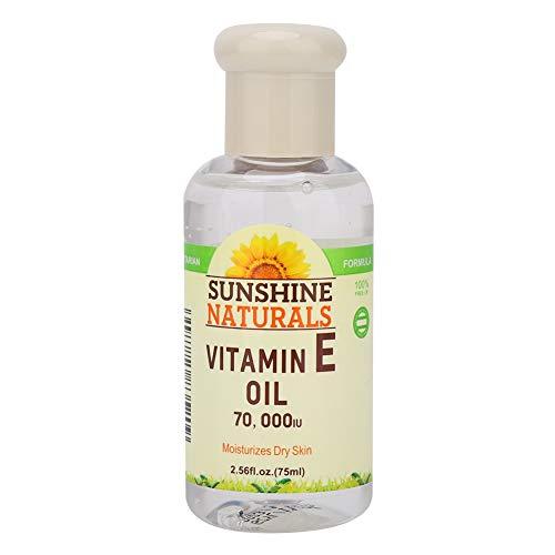 75 ml de aceite esencial para plantas Vitamina E Facial de la mañana y de la tarde Cuidado de la piel para blanquear las arrugas a prueba de grietas