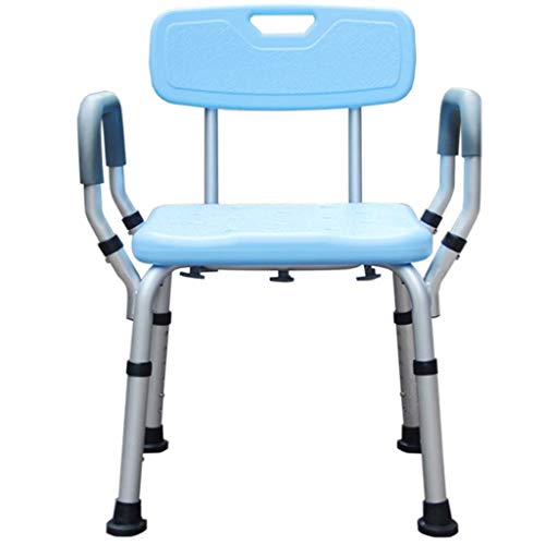 LYLSXY Bath Stools,Shower Chair | Portable Bath Seat | Adjustable Showering Bench | White Bathtub Lift Chair with Arms