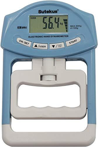 Sutekus Digital Hand Dynamometer Grip Strength Measurement Meter (Blue)