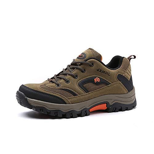 NEOKER Wanderschuhe Trekking Schuhe Herren Damen Sports Outdoor Hiking Sneaker Armee Grün Blau Schwarz Grau 36-48 Khaki 47