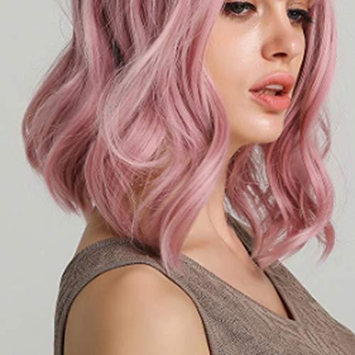 haz tu compra pelucas rosas rizadas