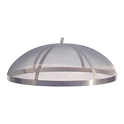 """Curonian Fire Pit Spark Screen 25"""" Stainless Steel (Medium)"""