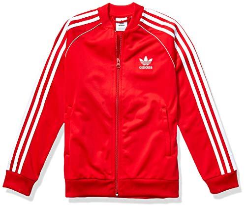 adidas Originals Unisex-Kinder Kids Superstar Jacket Unbekannte Geschichte, Dunkelrot/Weiß, Small