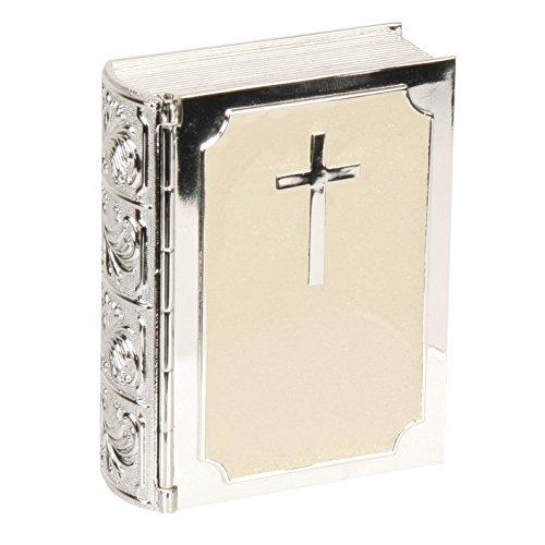 Oaktree Gifts Bibbia argentato Cream & epossidica portagioie