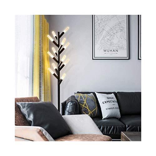 HGDD Fußbetätigte Stehlampe for den Hausgebrauch, Modern Personalisierte Brennholz Stil Neubau Villa Stehleuchte kreative Geschenk-Feiertags-Dekoration Günstige Kronleuchter