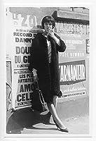 映画女優 アンナ・カリーナ 写真/フォト(小) Portrait Photograph 26A 女と男のいる舗道 フランス女優