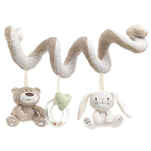 Froomer Baby Music Lit Hanging & Cribs Buggy Décorations avec lapin ours et cloche (serpent)