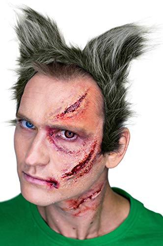 Balinco Wolf Haarreif | Werwolf Haarreifen | Wolfsohren aus Plüsch für Damen & Herren als Accessoire für Ihr Wolfskostüm zum Karneval