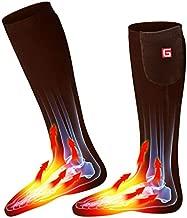 Men Women Electric Socks Rechargeable Battery Heated Socks,Unisex Battery Powered Heat Insulated Socks Kit Winter Warm Thermal Heating Socks,Cold Weather Battery Sock Skiing Hunting Biking Foot Warmer