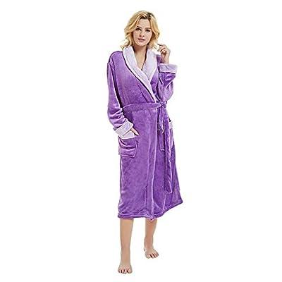 Clearance! Sunfei Women Winter Plush Lengthened Shawl Bathrobe Home Clothes Long Sleeved Robe Coat