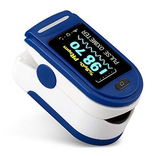 Oxímetro de pulso para dedo portátil medidor de saturación de oxígeno en sangre, pulsoxímetro de huella dactilar, Monitor de SPO2, oxímetro con caja ⭐