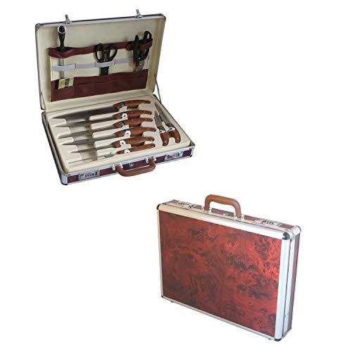 25-delige SET messen messenset met bestek bestekset in koffer messenkoffer