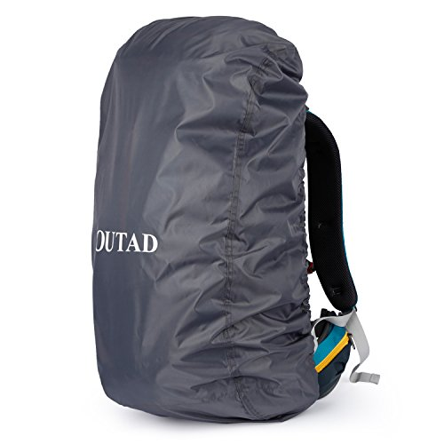 OUTAD Regenschutz für Rucksäcke, wasserdichte Regenhülle Rucksack Cover regenüberzug für Camping Wandern Backpack Schulranzen (Grau)