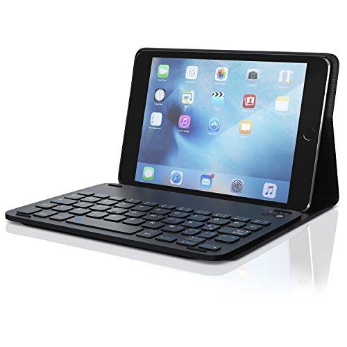 CSL - Tastatur mit Kunststoffcase für iPad Mini 4 7,9 Zoll - Schutzhülle Tasche Cover Case - Multimedia-Funktionstasten - Bluetooth Keyboard - kompatibel mit Apple iPad